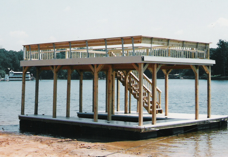 Dock Design Ideas boathouses by the dock doctors Boat Dock With Sundeck